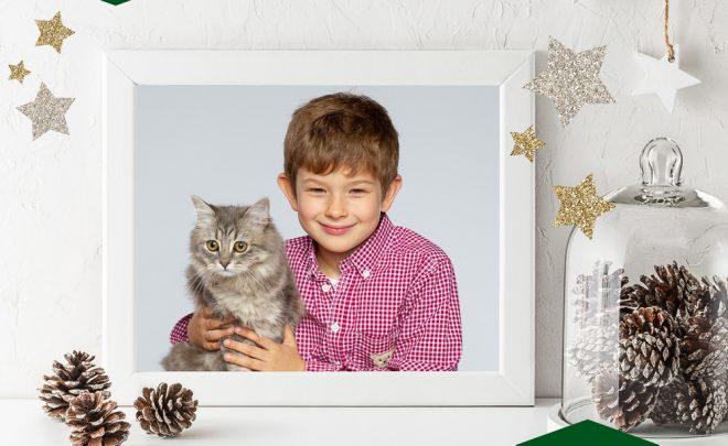 Fotoshooting Kind und Tier