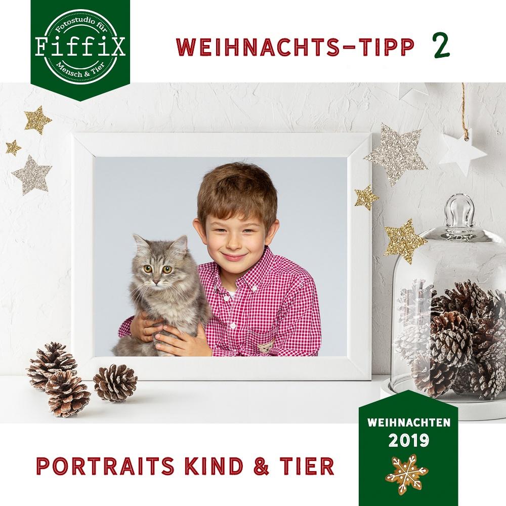 Portraits von Kind und Tier