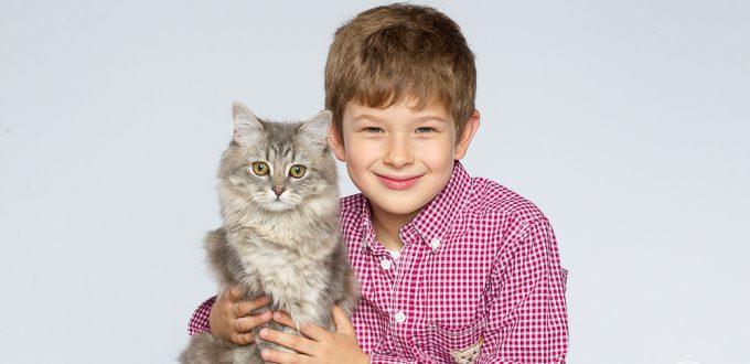 Fotoshooting Kind und Katze