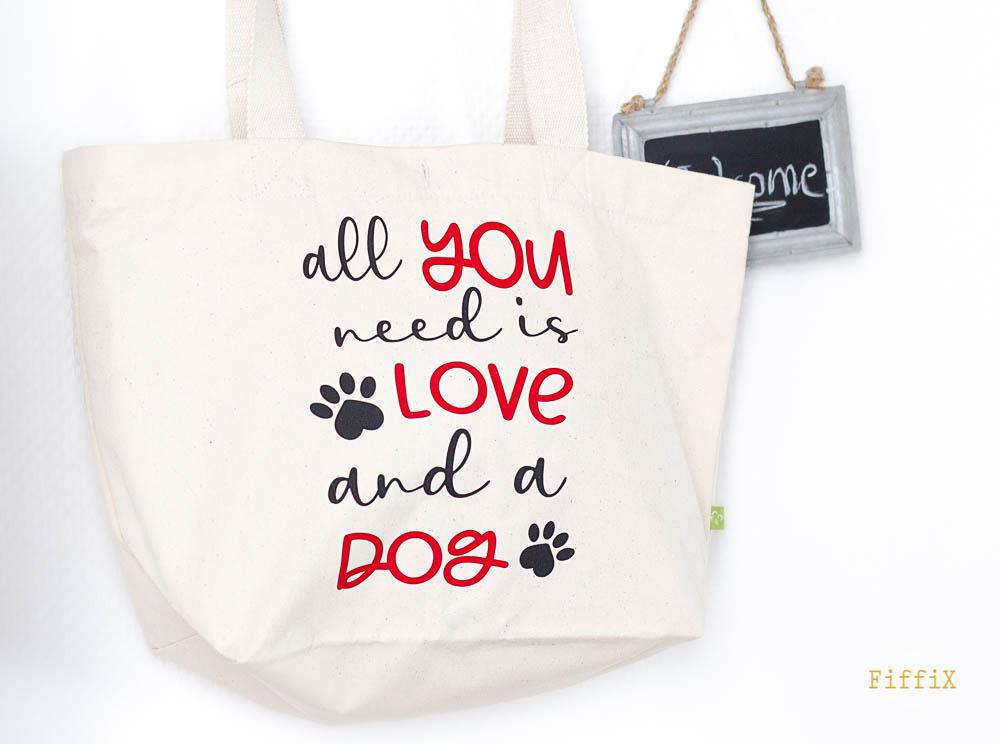 Neu im Online-Shop: Taschen mit Hundespruch